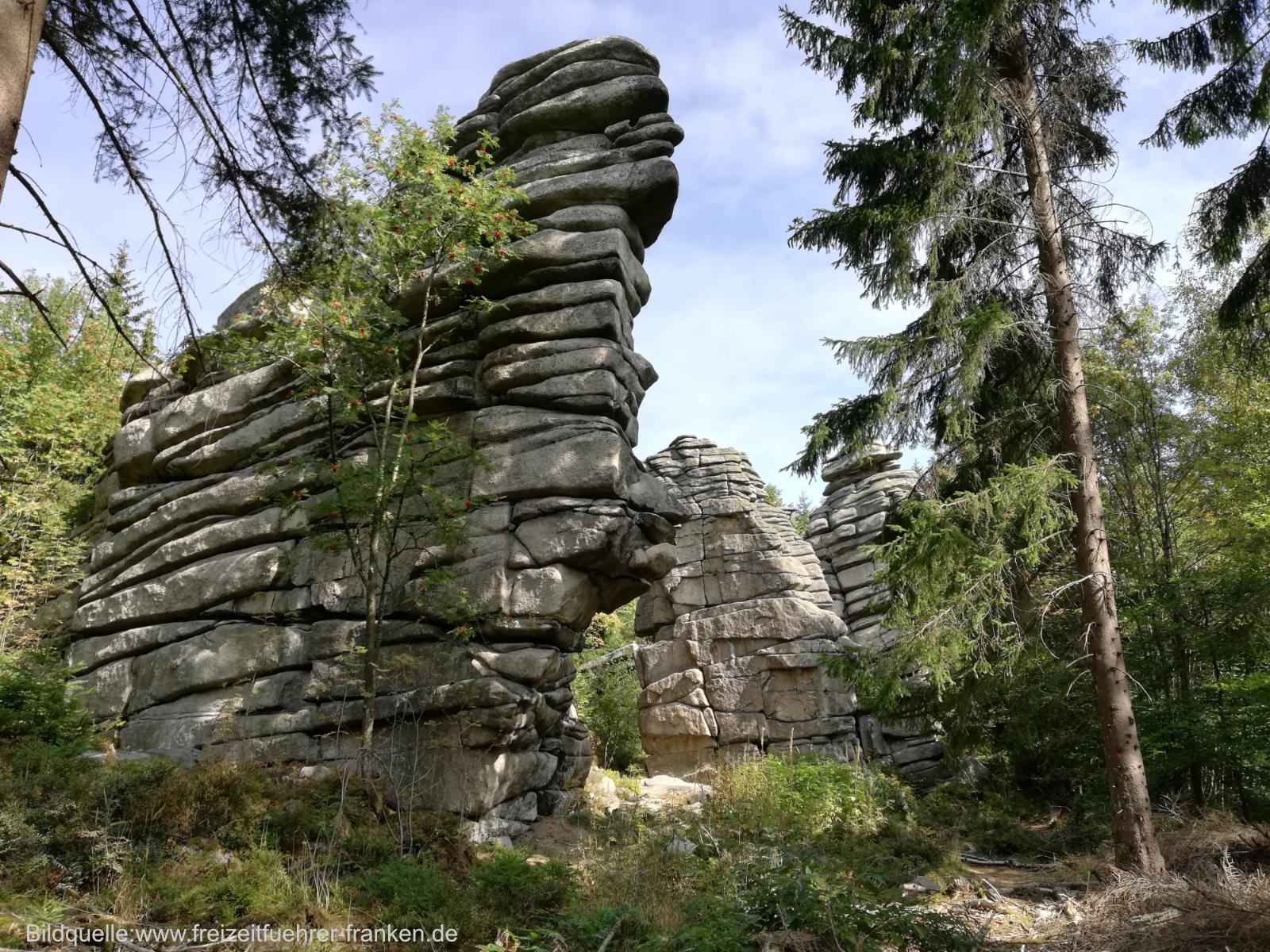 Fichtelgebirge Hauptwanderwege Drei Brüder Felsen