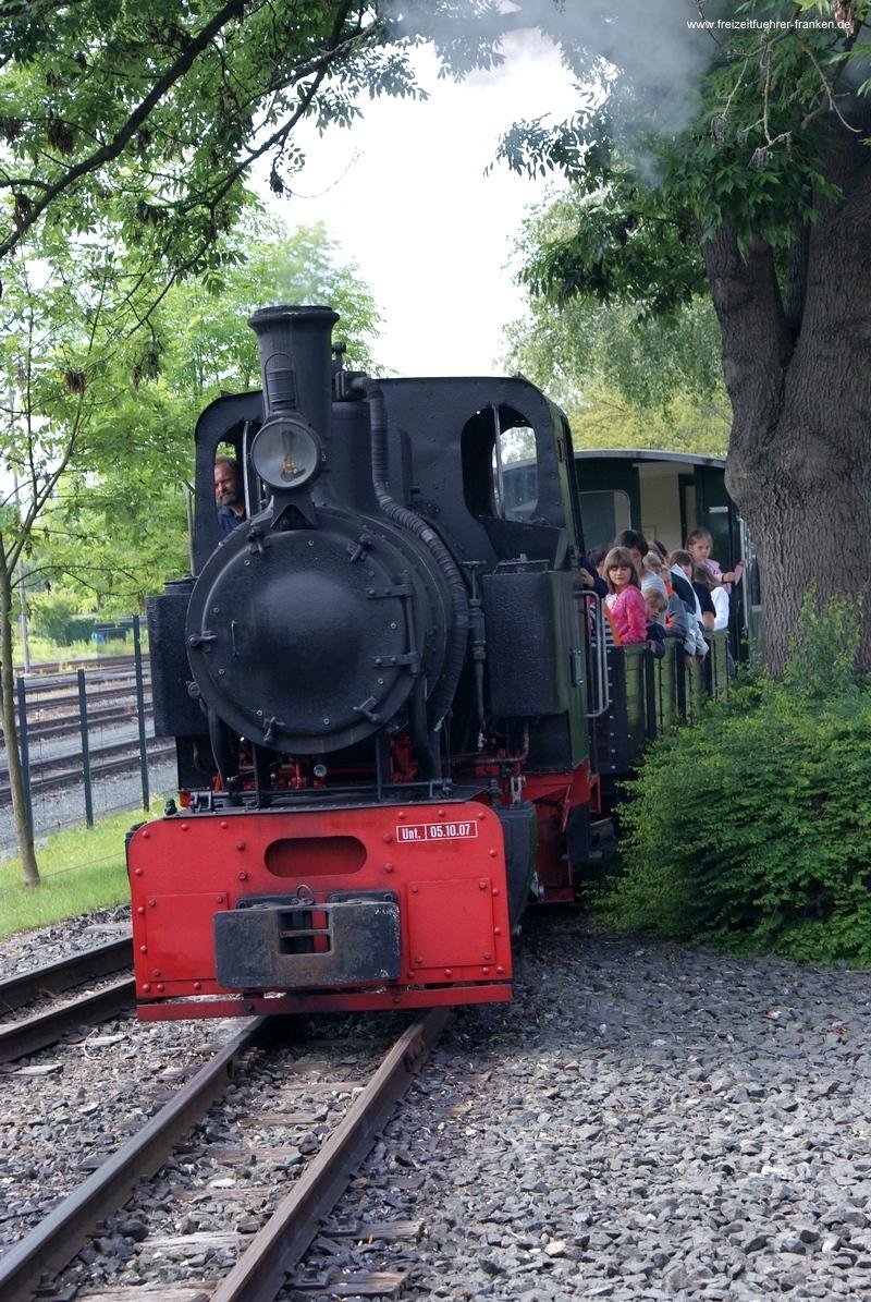 Kleinbahnfahrt Dampflokmuseum Neuenmarkt