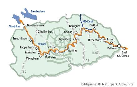 Route des Altmühltal-Radweg