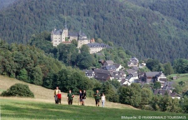 Wanderung auf dem Burgenweg im Frankenwald